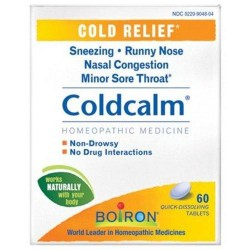 Boiron homeopathic coldcalm cold relief tablets - 60 ea