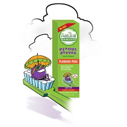 The natural dentist plaque zapper toothpaste fluoride free groovy grape - 5 oz