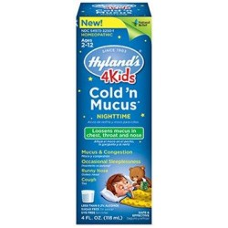 Hylands 4 kids coldn mucus nighttime - 1 ea,4 oz