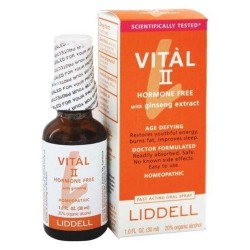 Liddell laboratories vital ii hormone free with ginseng extract homeopathic oral spray - 1 oz.