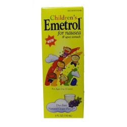 Childrens emetrol for nausea and upsest stomach dye-free liquid, grape flavor - 4 Oz