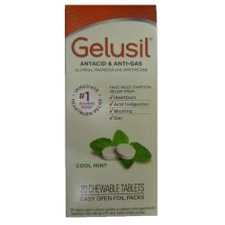 Gelusil Antacid & Anti-Gas Chewable Tablets Cool Mint - 20 ea