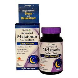Natrol Advanced Melatonin calm sleep fast dissolve tablets - 60 ea