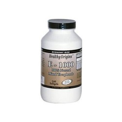 Healthy Origins vitamin E-1000 - 240 ea