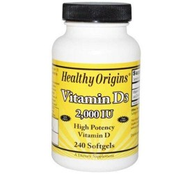 Healthy origins vitamin d3 2000 iu softgels - 240 ea