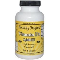 Healthy origins vitamin d3 2000 iu softgels - 360 ea