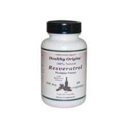 Healthy Origins Natural Resveratrol 300 mg  - 60 Veg Capsules