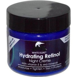 White egret night creme hydrating retinol - 2 oz
