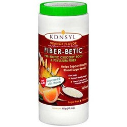 Konsyl fiber betic pre biotic chicory root and psyllium fiber orange flavor - 10.6 oz