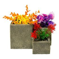 Blue Ribbon Pet Products square flower pot garden - small, 24 ea