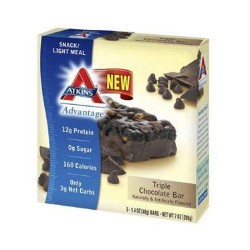 Atkins advantage bar triple chocolate box of 5 - 1.4 oz