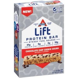 Atkins lift chocolate chip cookie dough protein bars - 2.1 oz