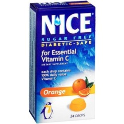 Nice sugar free lozenges vitamin c orange - 24 ea