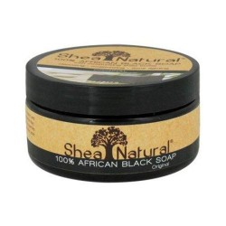 Shea natural african black soap creamy with shea butter - 8 oz