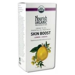 Nourish organic skin boost cream to oil essential treatment with lemon cassia - 2 oz