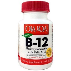 Ola loa products sublingual hydroxycobalamin b12 tablets - 60 ea