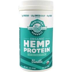 Manitoba harvest organic hemp protein vanilla - 1 LB