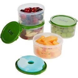 Fitnd fresh 4piece smart portion chilled 1cup container set - 1 ea