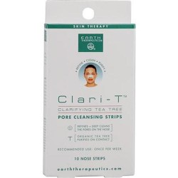 Earth therapeutics clari t tea tree pore cleansing strips - 10 ea