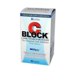 Absolute nutrition c block carb and starch blocker Caplets - 90 ea