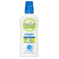 The Natural Dentist Anti-Cavity Fluoride Rinse, Fresh Mint - 16.9 oz