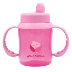 Green sprouts sippy cup flip top pink - 1 ea