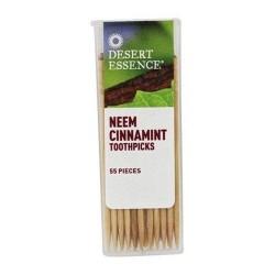 Desert essence toothpicks neem cinnamint - 55 ea ,12 pack