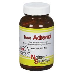 Natural sources raw adrenal capsules  - 60 ea