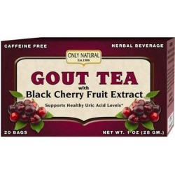 Only natural gout tea black cherry fruit extract - 20 Bags