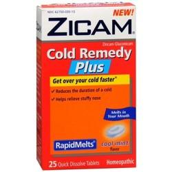 Zicam cold remedy rapidmelts quick dissolve tablets cool mint flavor - 25 ea