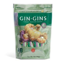 Gin Gins original chewy ginger candy - 3 oz  ,11 pack