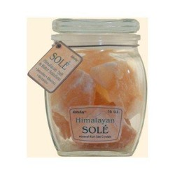 Himalayan salt sole salt chunks in jar - 16 oz