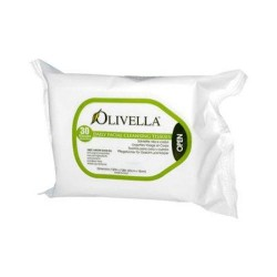 Olivella daily facial cleansing tissues - 30 ea
