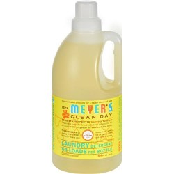 Mrs Meyer s 2x laundry detergent  baby blossom - 64 oz, 6 pack