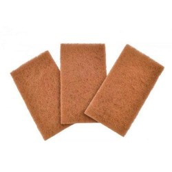 Full circle home scour pads neat nut walnut shell - 3 ea,6 pack