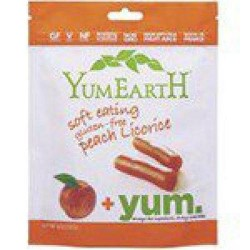 Frontier natural 229730 yum earth licorice peach - 12 ea, 5 oz ,12 pack