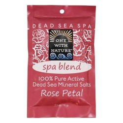 One with nature pure active dead sea minerals salts spa blend rose petal - 2.5 oz.. ,6 pack