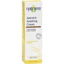 Natralia anti itch soothing cream oatmeal and menthol - 3 oz