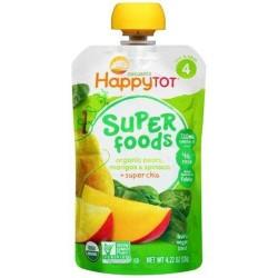Happy tot superfoods organic pears - 4.22 oz ,16 pack