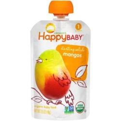 Happy baby starting solids mangos organic baby food - 3.5 oz ,16 pack