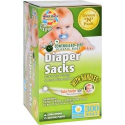 Ecofriendly bags green n pack diaper sacks baby powder scented 300 bags - 1 ea
