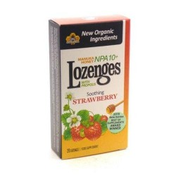 Manuka honey strawberry lozenges by pacific resources international - 20 ea