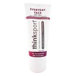 Thinksport spf 30 everyday naturally tinted face sunscreen cream, currant - 2 oz