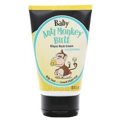 Anti monkey butt baby diaper rash cream tube with calamine - 3 oz