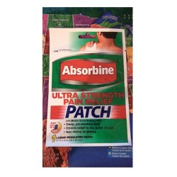 Absorbine ultra strength pain relief large medicated patch -18 ea