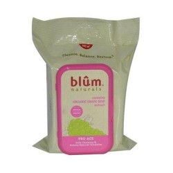Blum naturals daily cleansing and makeup remover towelettes pro age - 30 Towelettes, 3 pack