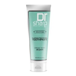 Dr. Sharp natural oral care toothpaste fresh mint with green tea - 3 oz