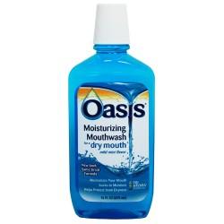 Oasis moisturizing mouthwash for dry mouth mild mint - 16 oz