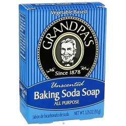 Grandpas all purpose baking soda soap, Unscented, 3.25 oz