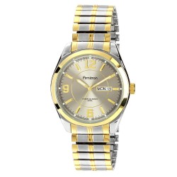 Armitron men's 40mm stainless steel two-tone bracelet watch none silver/gold - 1 ea